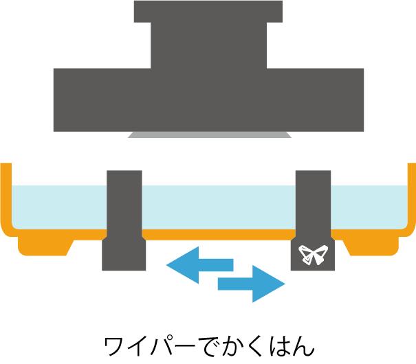 Form2 造形プロセス ワイパー