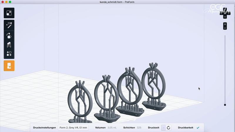 3Dプリンター用ワックスレジン